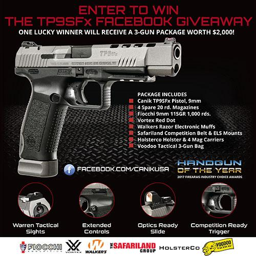 TP9SFx 3-Gun Package Facebook Giveaway