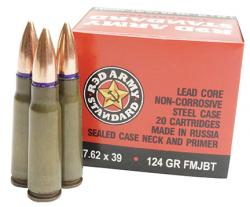 Century Arms 7.62x39mm Boat Tail Ammunition