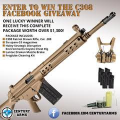 Century Arms Announces New C308 Rifle Package Facebook Giveaway
