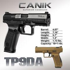 Canik TP9DA Pistols Now Shipping