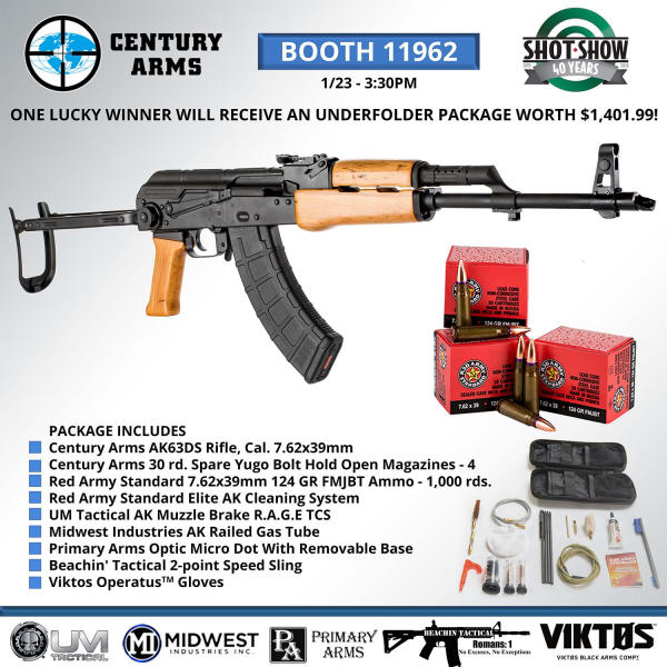 Century Arms Announces Giveaways & Dealer Promotion at SHOT Show