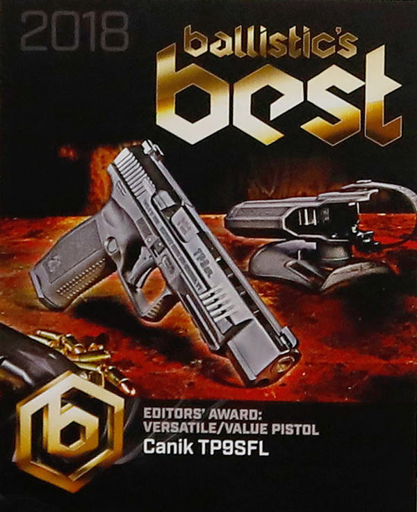 Canik TP9SFL Pistol Wins the Ballistic's Best Award