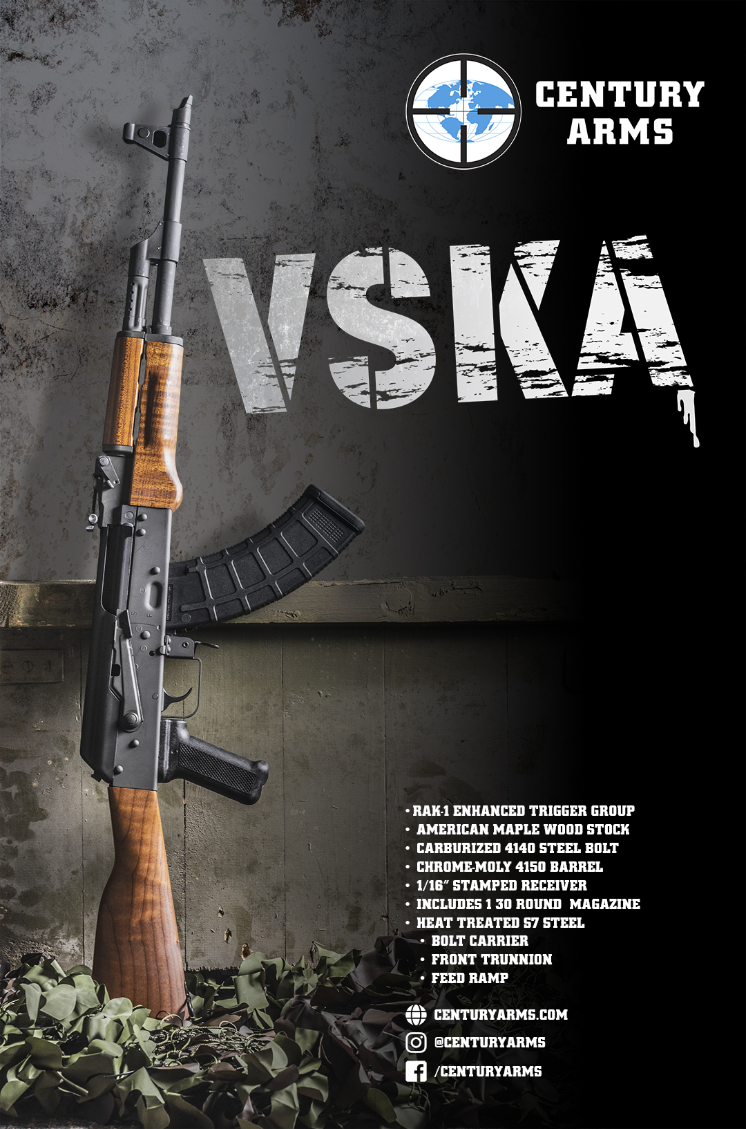 Century Arms Releases Heavy Duty VSKA AK-pattern rifle