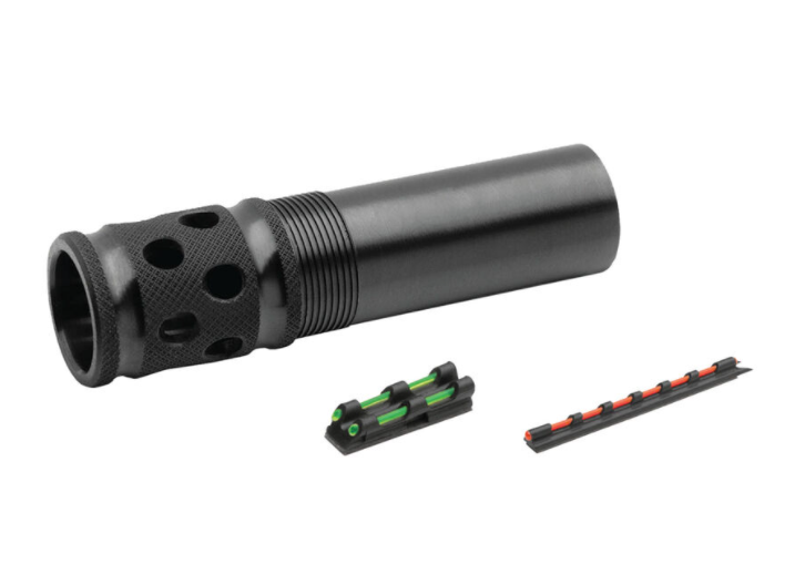 Truglo Remington Pro Bore 12 Gauge Gobble Stopper Extreme Extended Ported Turkey Choke Steel Blued with Gobble-Dot Dual Color Fiber Optic Sights Set