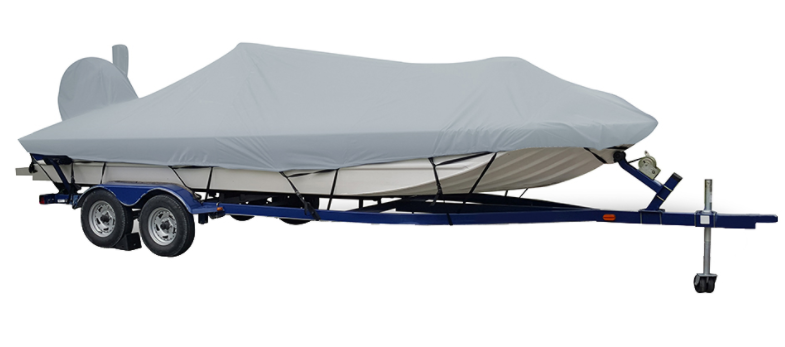 Carver Performance Poly-Guard Extra Wide Series Styled-to-Fit Boat Cover f/19.5' Aluminum Modified V Jon Boats - Grey - 71419XP-10