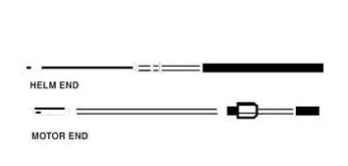 Ezy-Glide 13' Mechanical Steering Cable for Ezy-Stik System
