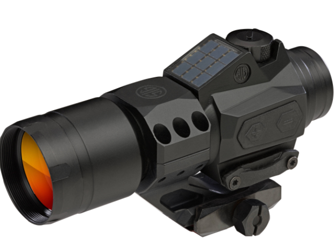 SIG Sauer Romeo6T Red Dot Optic 1x30mm 1 MOA Red Dot Ballistic Circle Dot Reticle CR2032 Battery/Solar Panel