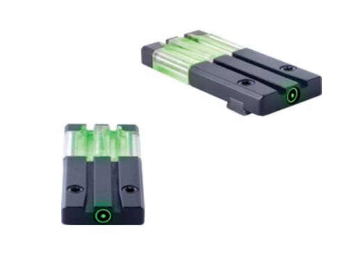 Meprolight Fiber-Tritium Circle Dot Sight S&W M&P Shield Green Rear ML63121G