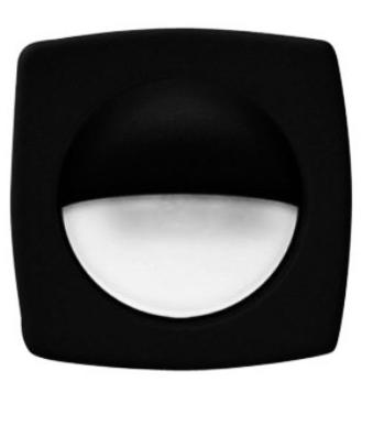 T-H Marine - Companion Black Bezel Hidden Fasteners Courtesy LED Light