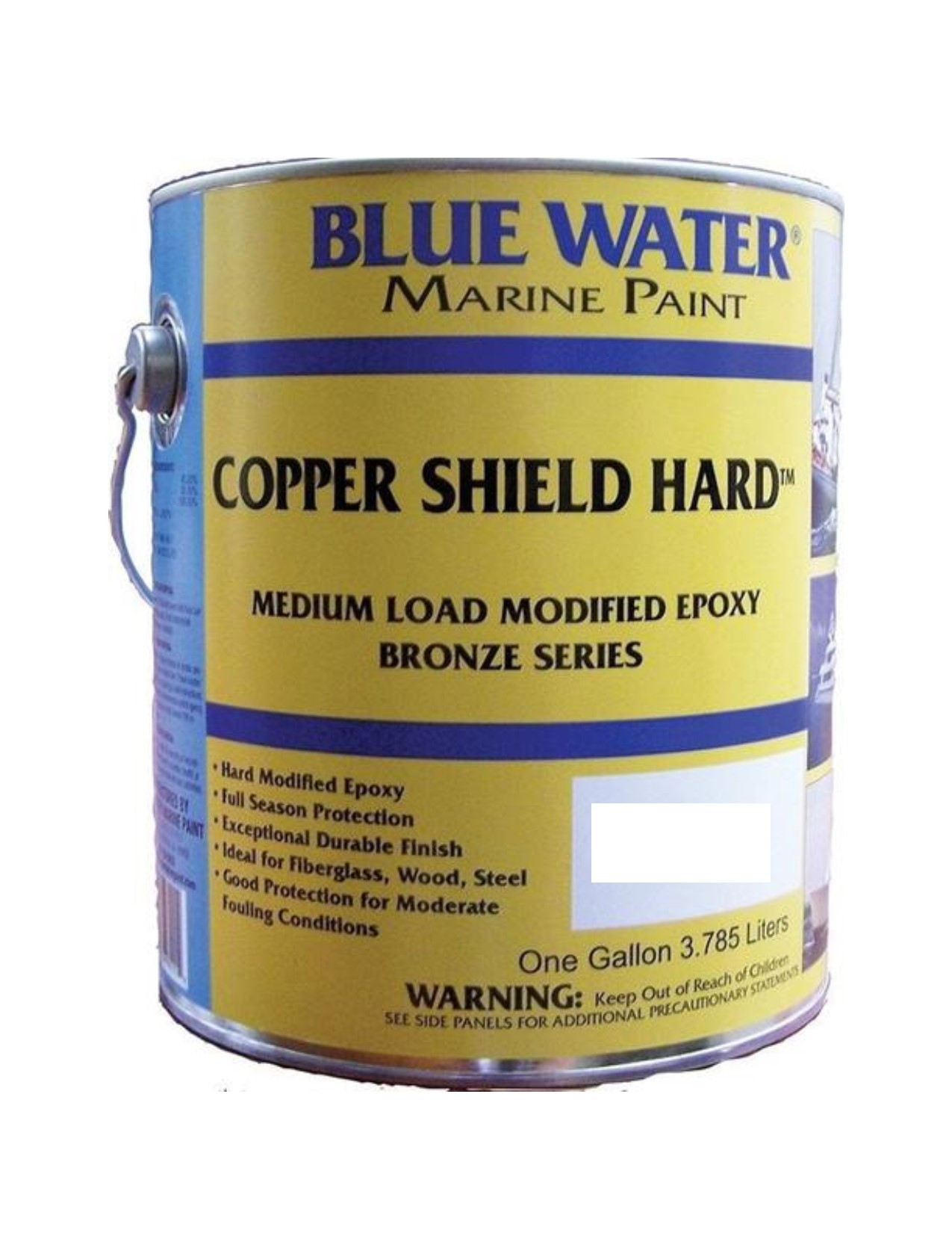 Blue Water Marine Paint, Copper Shield Hard, Admiral Red, 1 Quart