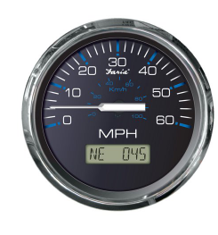 """Faria Chesapeake SS 4"""" Gauge, 60 MPH GPS Speedometer with LCD, Compass"""