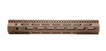 "Troy Industries 13"" M-LOK Battle Rail AR Style .308 High Profile Handguard Rifle Length Free Float Aluminum FDE"