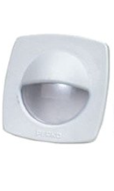 """Perko - 2-1/4"""" White Polymer Courtesy Light with Snap on Front Cover"""