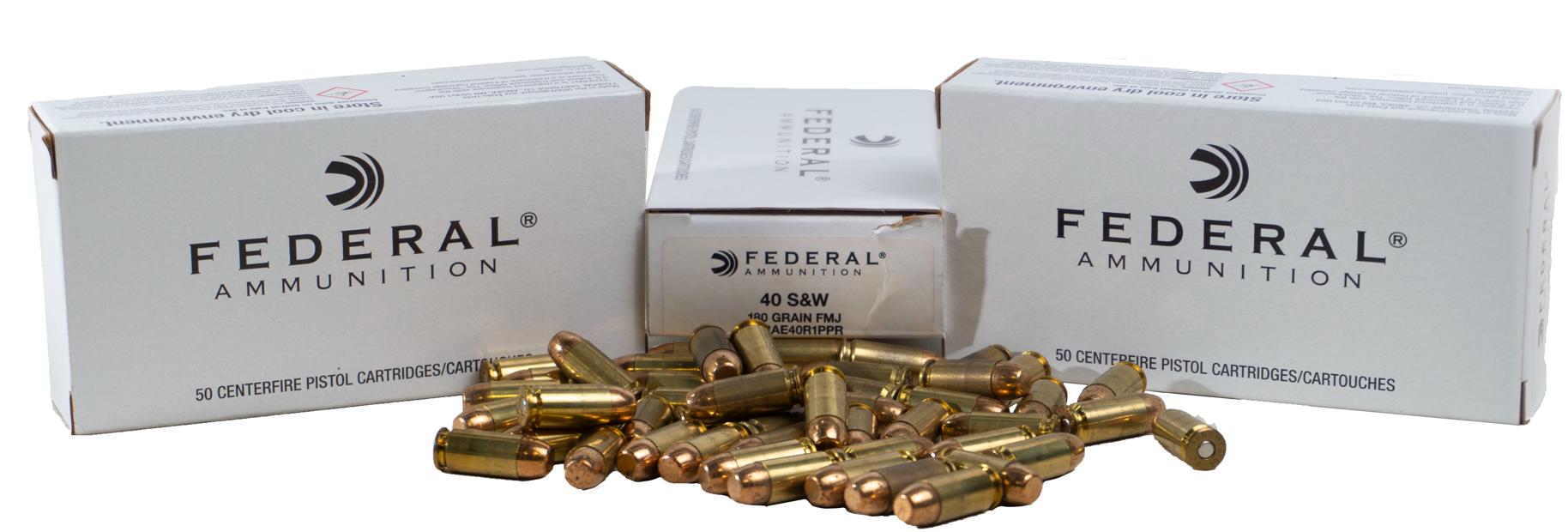 Federal American Eagle 40 S&W, 180 GR FMJ, 1000RD Case
