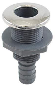 """Whitecap - S-3804C 316 S.S./Plastic 1-1/4"""" Thru-Hull w/ Barb"""