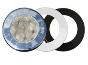 """T-H Marine - 3"""" White 55 lm Recessed Dome LED Light"""