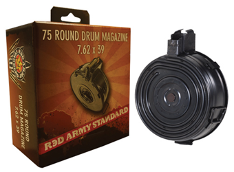 Red Army AK 75 rd. Drum Mag., 7.62x39mm