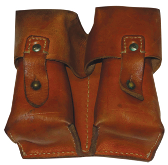2 Pocket Leather Pouch for Yugo SKS Rifle