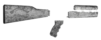 Yugo M70 PAP rifle Stock Set, *Snake Skin*, *New*