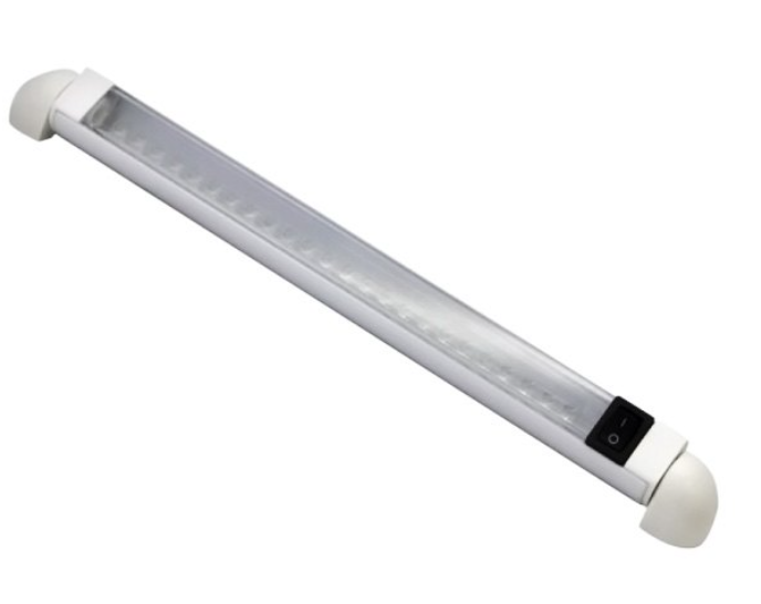 """T-H Marine - 12"""" Cool White Rail LED Light with Switch"""
