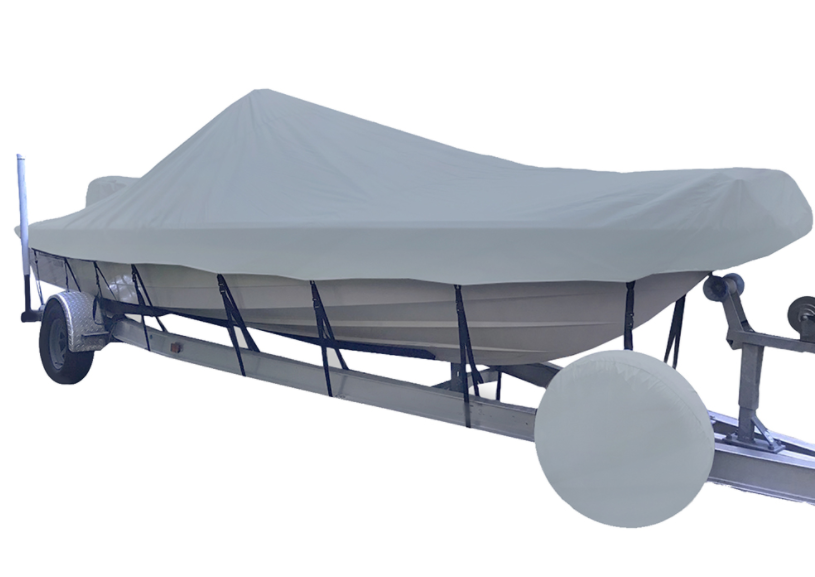 Carver Performance Poly-Guard Styled-to-Fit Boat Cover f/22.5' V-Hull Center Console Shallow Draft Boats - Grey - 71222P-10