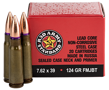 Red Army Standard 7.62x39mm 124 GR FMJBT, 1000 rd Case