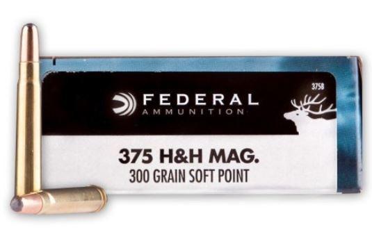 Federal Power-Shok 375 H&H Magnum, 300 GR SP, Box of 20