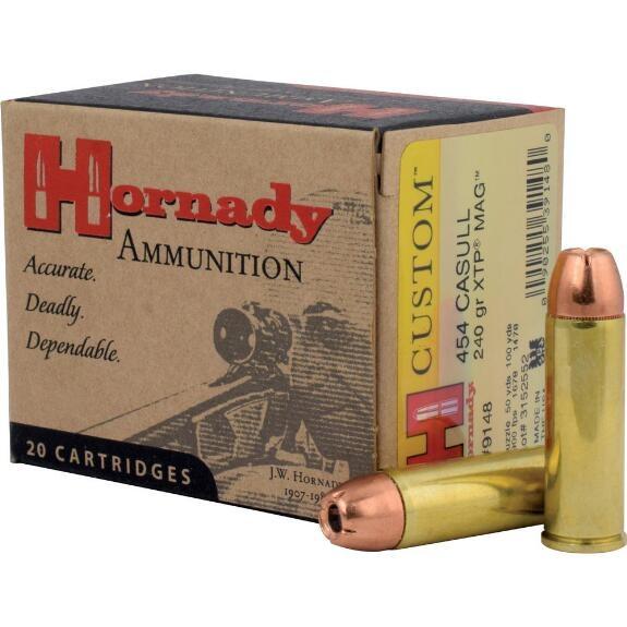Hornady Custom 454 Casull 240gr XTP, Box of 20