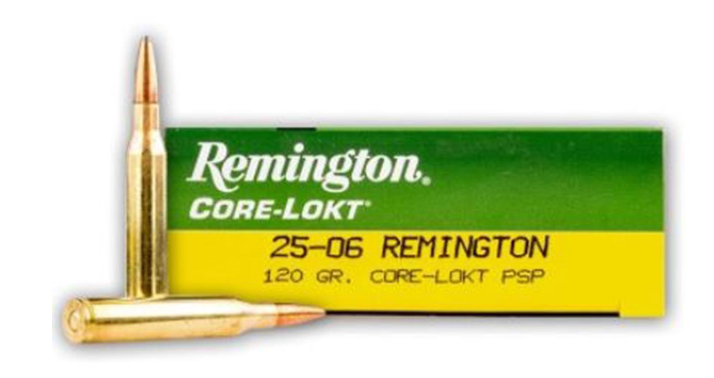 Remington Core-Lokt 25-06 Rem, 100 GR PSP, Box of 20