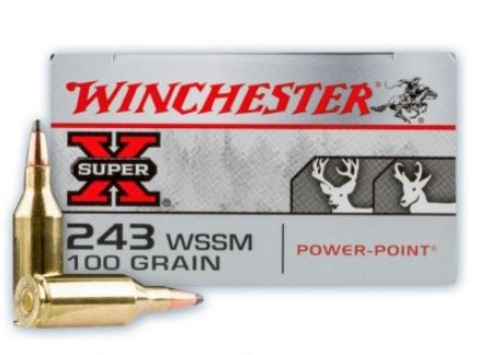 Winchester Super-X 243 WSSM, 100 GR SP, Box of 20