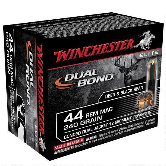 Winchester Dual Bond 44 Rem Mag, 240 GR JHP, Box of 20