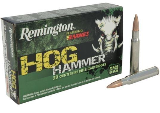 Remington Hog Hammer 308 Win, 168 GR TSX, Box of 20