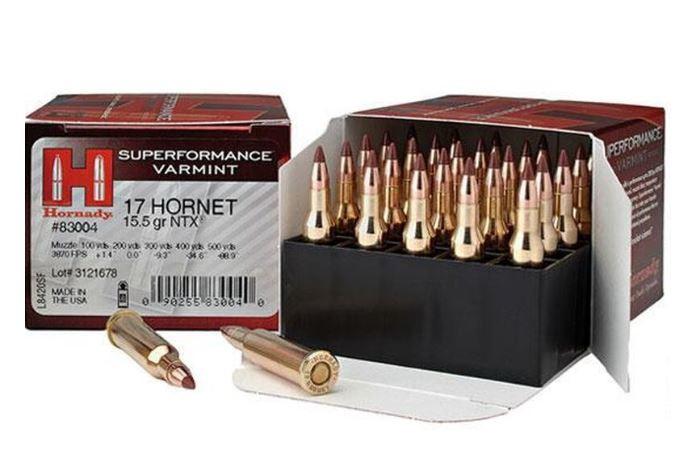 Hornady Superformance, .17 Hornet Ammunition, 25 Rounds, NTX 15.5 Grains