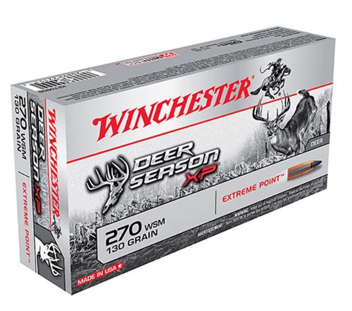 Winchester Deer Season XP 270 WSM, 130 GR Polymer Tip, Box of 20
