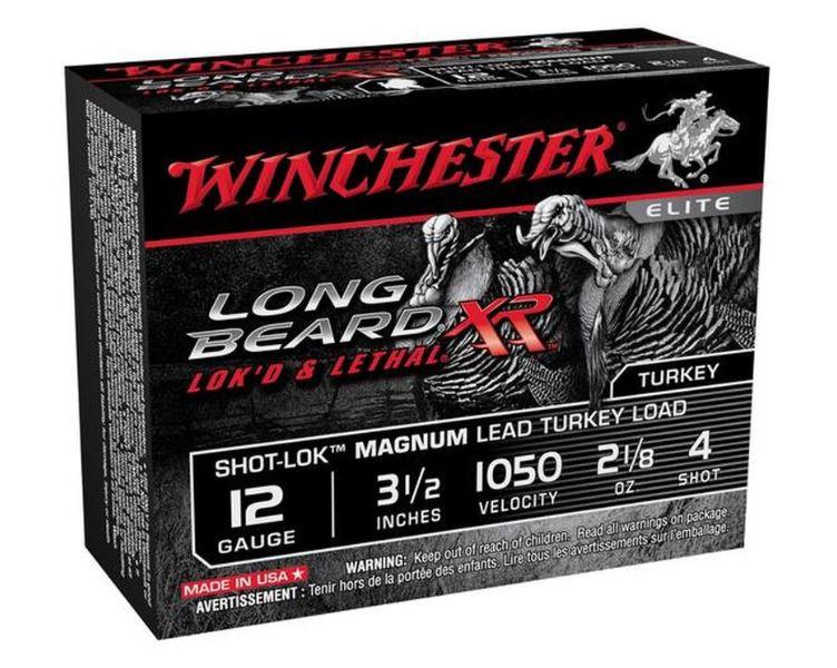 "Winchester Long Beard XR, 12 GA, 3-1/2"" #4 Lead, Box of 10"