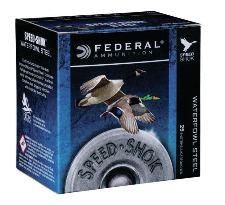 "Federal Speed-Shok 16 GA, 2-3/4"" #4 Steel, 15/16oz, Box of 25"