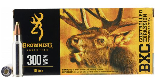 Browning BXC 300 WSM, 185 GR BXC, Box of 20