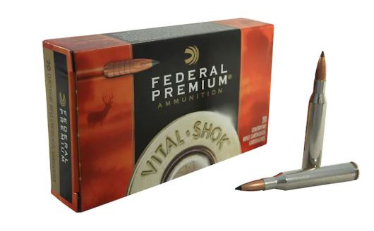 Federal Premium 25-06 Remington, 100 GR Trophy Copper Tipped Boat Tail, Lead-Free, Box of 20