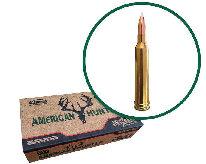Ammo Inc American Hunter/Jeff Rand 7mm Remington Magnum, 160 GR AccuBond, Box of 20