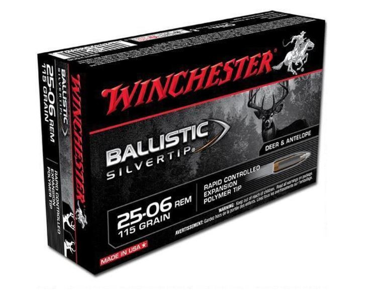 Winchester Ballistic Silvertip 25-06 Remington, 115 GR, Box of 20