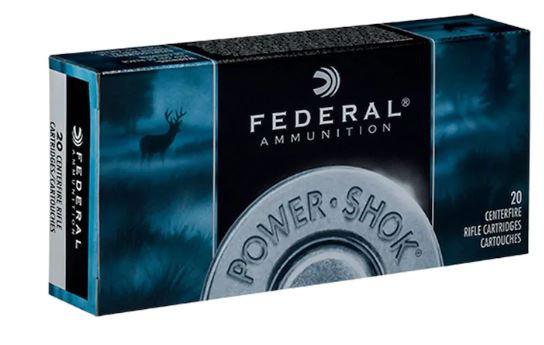 Federal Power-Shok 25-06 Rem, 117 GR Soft Point, Box of 20