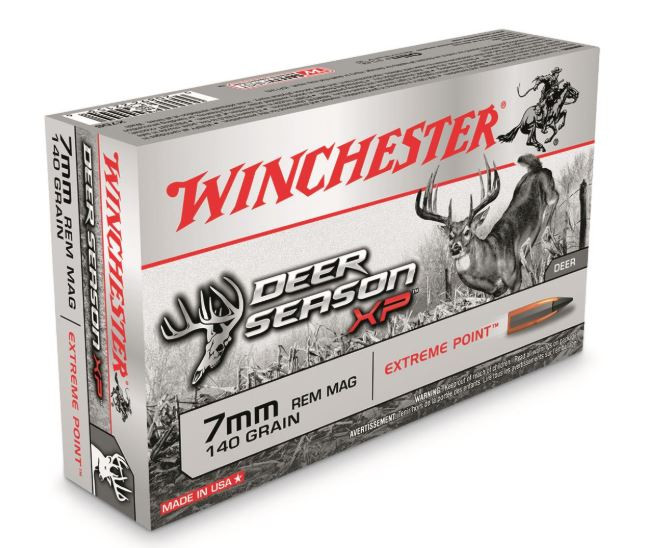 Winchester Deer Season XP 7mm Remington Magnum, 140 GR Polymer-Tipped Extreme Point, Box of 20