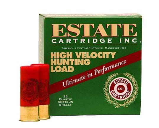 "Estate High Velocity Hunting, .410 Gauge, 2.5"" ,1/2oz, 6 Shot, 250 Round Case, (25 Rounds Per Box / 10 Boxes Per Case)"