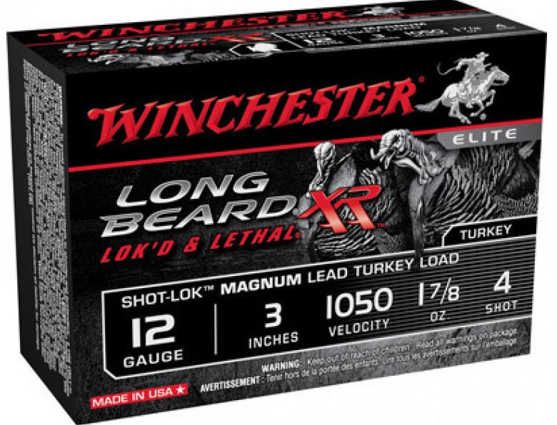 "Winchester Long Beard XR, 12 GA 3"" 1-7/8oz #4, Box of 10"