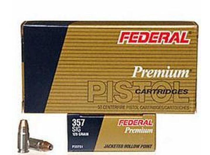 Federal Defense .357 SIG,125 Grain JHP, 50 Round Box
