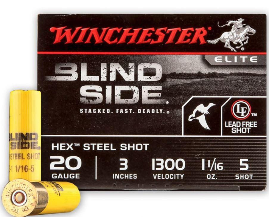 "Winchester Blindside 20 GA, 3"" #5, 1-1/16oz Lead Free, Box of 25"