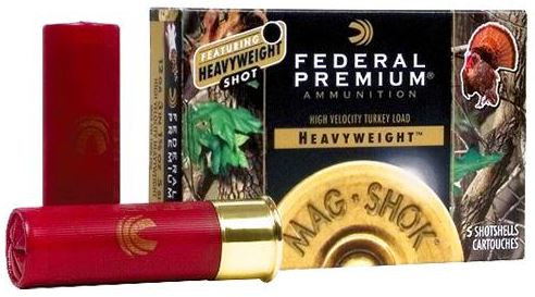 "Federal Premium Heavyweight Mag Shok Turkey Load, 12 GA 3-1/2"" 1-7/8oz #7, Box of 5"
