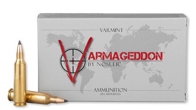 Nosler Varmageddon 22-250 Remington, 55 GR Flat Base Tip, Box of 20