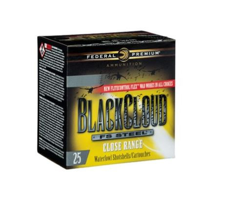 "Federal Premium Black Cloud Close Range, 20 GA, 3"" 1oz Non-Toxic FlightStopper Steel Shot, Box of 25"