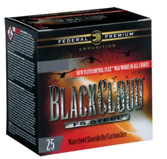 "Federal Premium Black Cloud, 12 GA, 3"" 1-1/4oz #1 Non-Toxic FlightStopper Steel Shot, Box of 25"